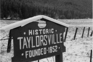Sign welcoming visitors to Taylorsville.