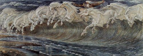"""Neptune's Horses"", by Walter Crane, 1893"