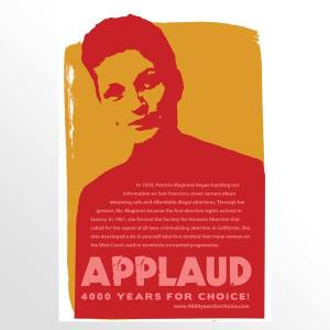 """Applaud"" poster by artist Heather Ault. Taken from her ""4,000 Years for Choice"" poster series."